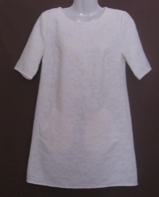 Платье женское белое букле, мини. 42р-р. классное. - Фото 2