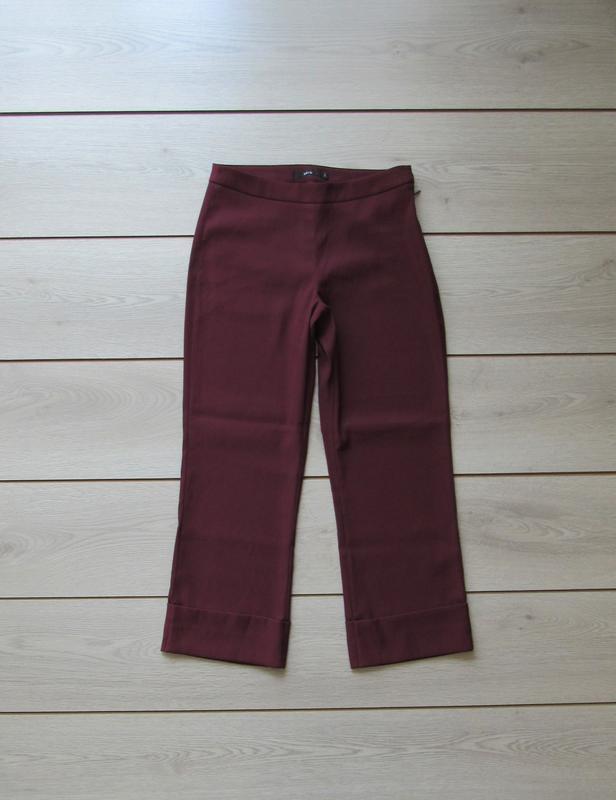 №158 брюки кюлоты цвета марсала от zero - Фото 2