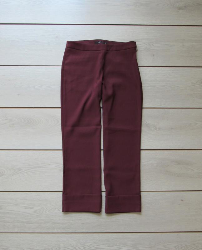 №158 брюки кюлоты цвета марсала от zero - Фото 3