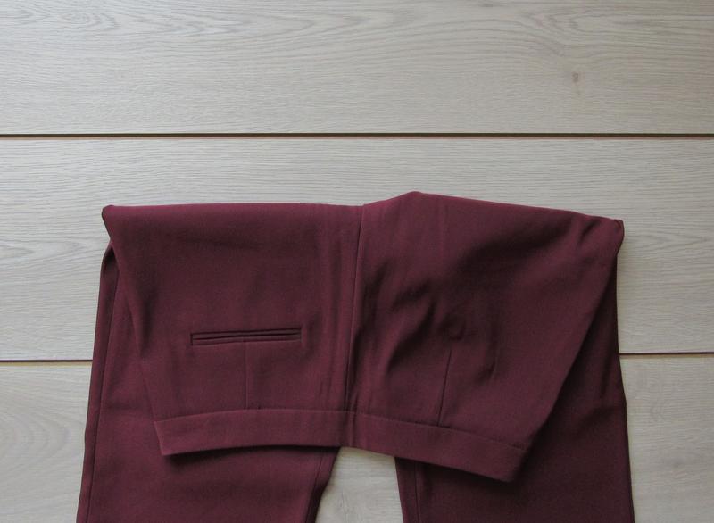 №158 брюки кюлоты цвета марсала от zero - Фото 5