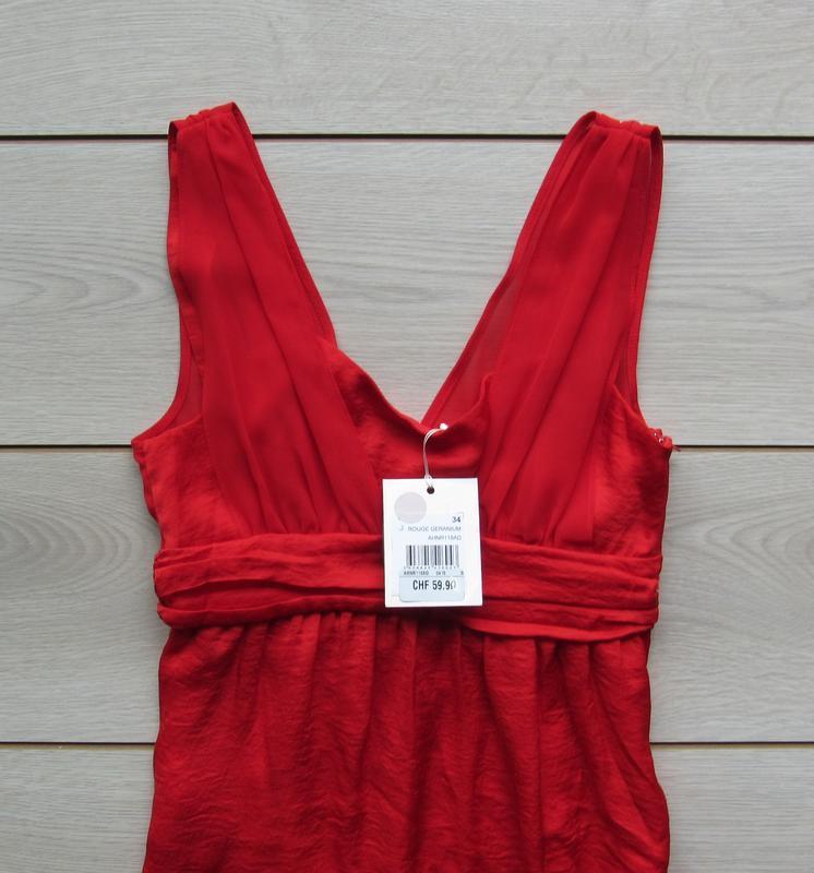 №19 новое яркое красное платье сарафан от naf-naf - Фото 2