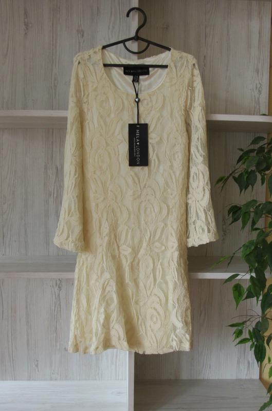 №27 новое ажурное гипюровое нежное платье от mila london