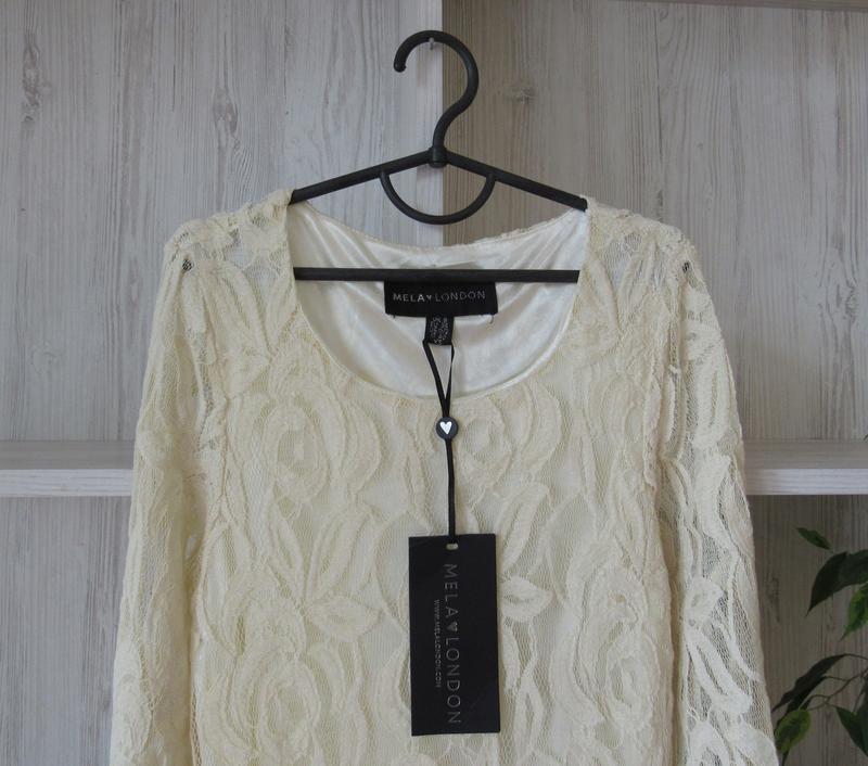 №27 новое ажурное гипюровое нежное платье от mila london - Фото 2