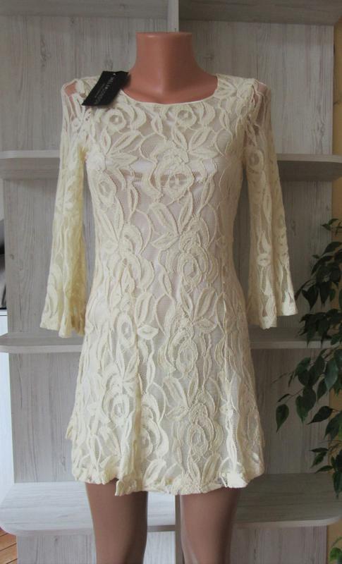 №27 новое ажурное гипюровое нежное платье от mila london - Фото 5