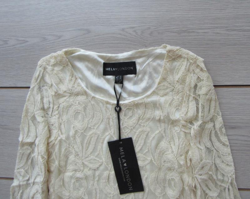 №27 новое ажурное гипюровое нежное платье от mila london - Фото 7