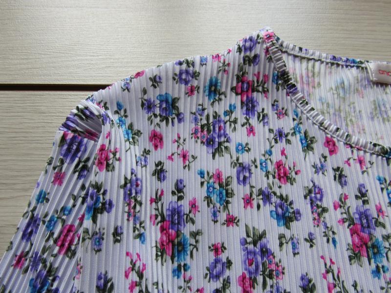 Акция к лету №104 блуза плиссе в цветочный принт большой разме... - Фото 2