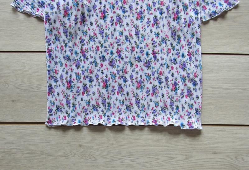 Акция к лету №104 блуза плиссе в цветочный принт большой разме... - Фото 3