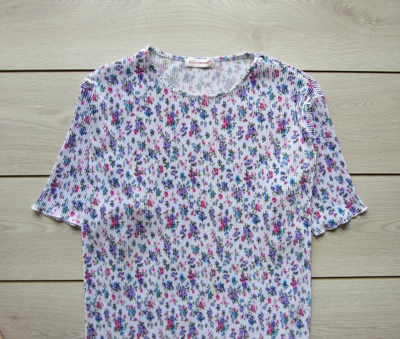 Акция к лету №104 блуза плиссе в цветочный принт большой разме... - Фото 4