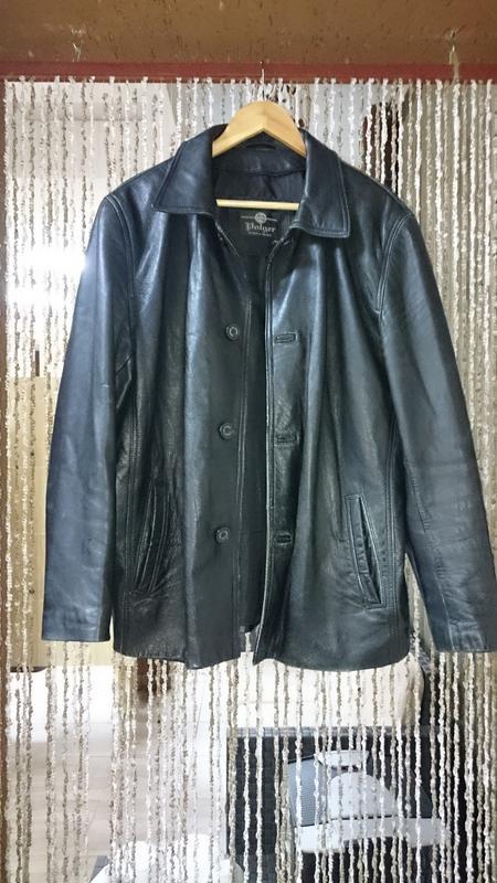Куртка tz polger мужская из натуральной кожи - Фото 5