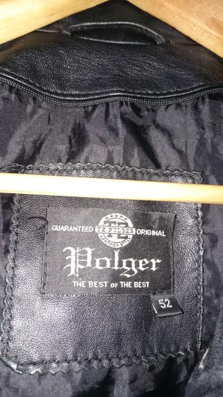 Куртка tz polger мужская из натуральной кожи - Фото 9