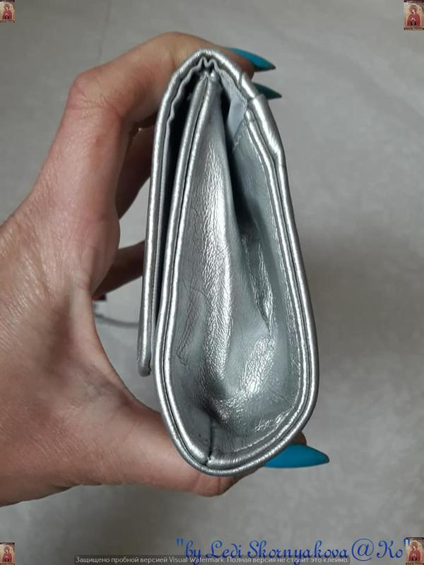 Фирменный dorothy perkins клатч в сочном серебристом цвете с м... - Фото 8