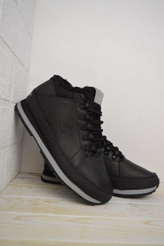 New balance 754 black fur мужские зимние ботинки с мехом чёрны...