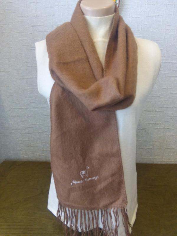 Теплый , шикарный шарф 100 % шерсть альпака перу