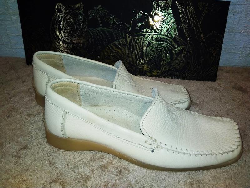 Janet d лоферы мокасины туфли италия натуральная кожа - Фото 2