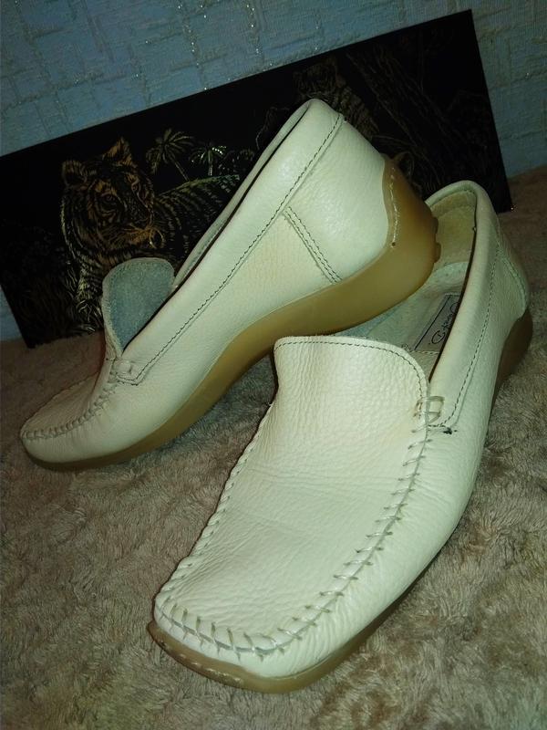 Janet d лоферы мокасины туфли италия натуральная кожа - Фото 3