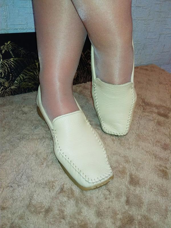 Janet d лоферы мокасины туфли италия натуральная кожа - Фото 5