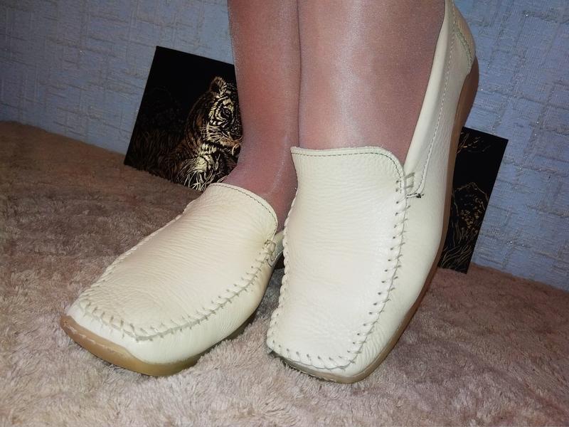 Janet d лоферы мокасины туфли италия натуральная кожа - Фото 6