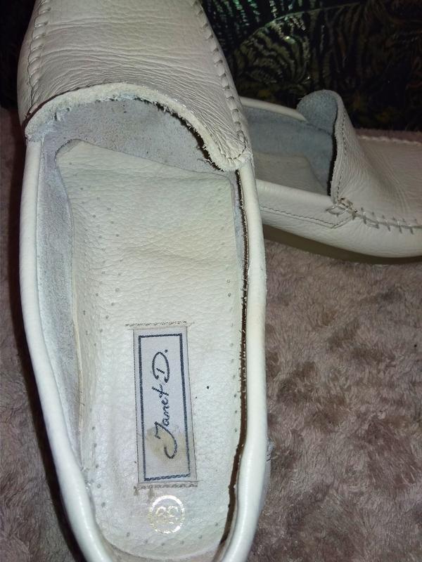 Janet d лоферы мокасины туфли италия натуральная кожа - Фото 8
