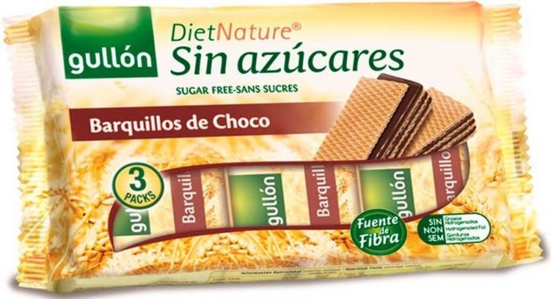 Вафли Gullon Dietnature, без сахара, Испания, 210г - Фото 2