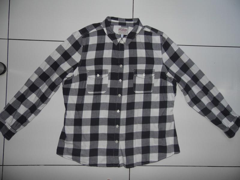 Рубашка- клеточка - коттон -old navy - plaid - xl