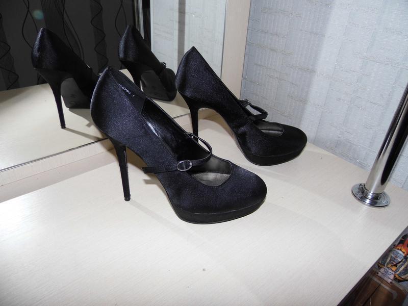 Туфли - текстиль - атлас -new look -uk 7 eur.40стелька - 25.4 ...
