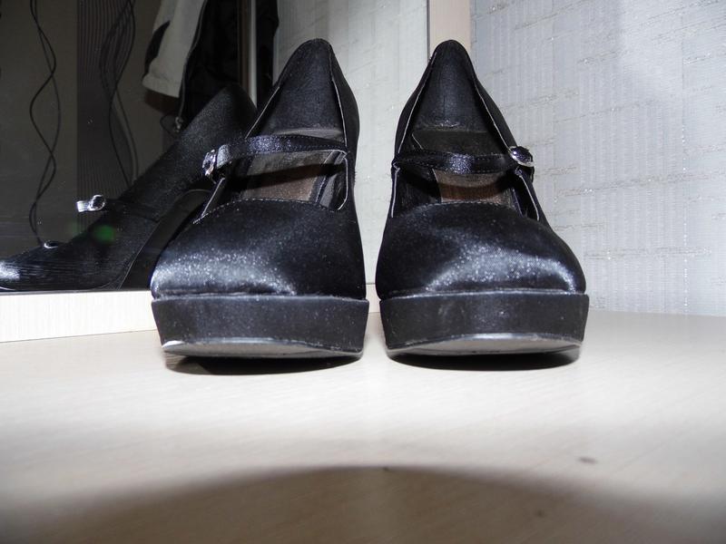 Туфли - текстиль - атлас -new look -uk 7 eur.40стелька - 25.4 ... - Фото 3