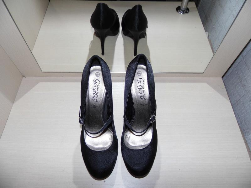 Туфли - текстиль - атлас -new look -uk 7 eur.40стелька - 25.4 ... - Фото 4