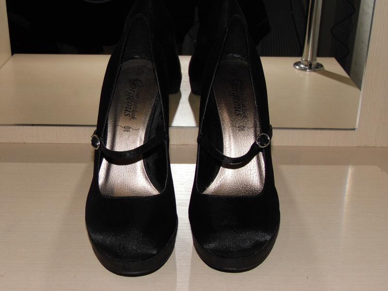 Туфли - текстиль - атлас -new look -uk 7 eur.40стелька - 25.4 ... - Фото 5