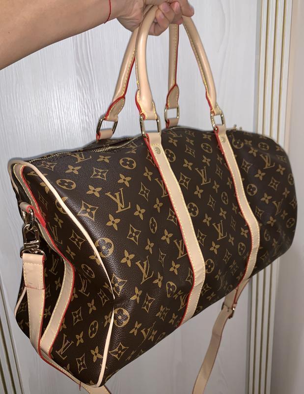 Шикарная большая коричневая сумка бренд
