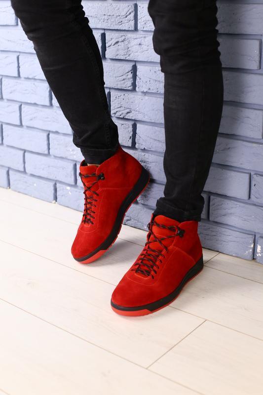 Lux обувь! яркие стильные натуральные мужские зимние ботинки 4...