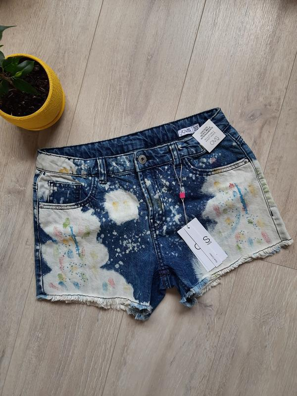 Шорты джинсовые новые для девочки ovs 13 лет 14 лет летняя оде...
