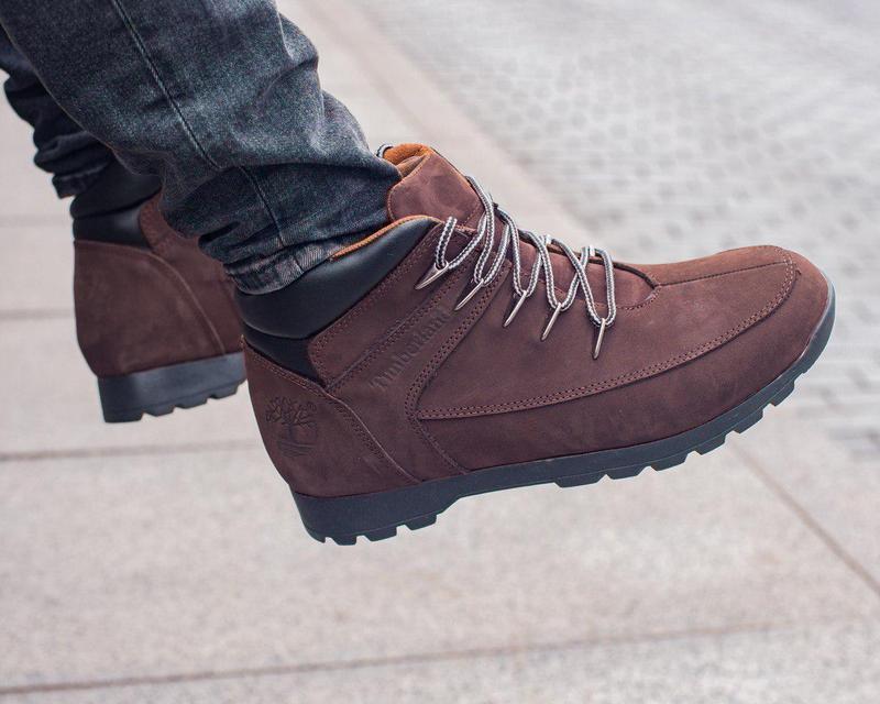Кожаные ботинки timberland brown