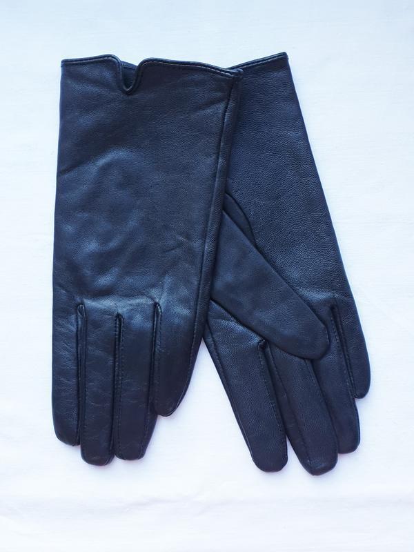 Перчатки женские демисезонные кожаные черные atmosphere (разме...