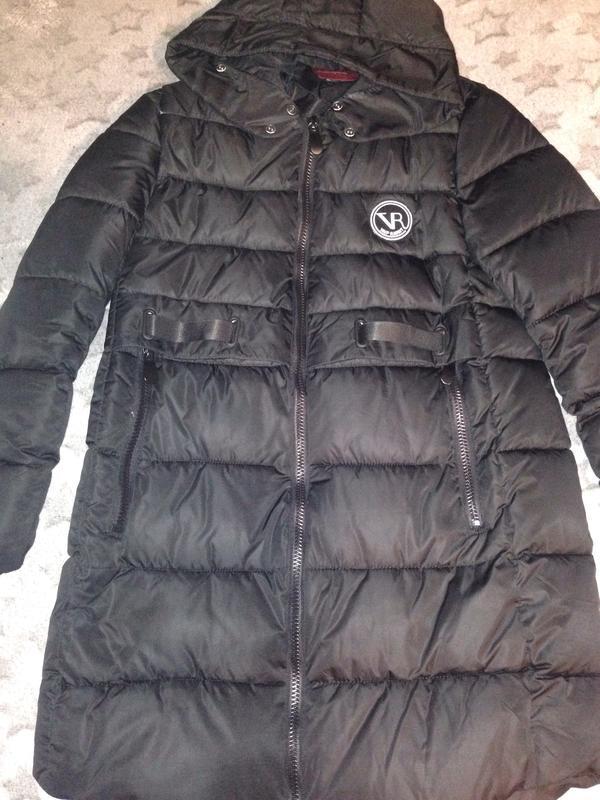 Удлиненная теплая зимняя куртка пуховик пальто