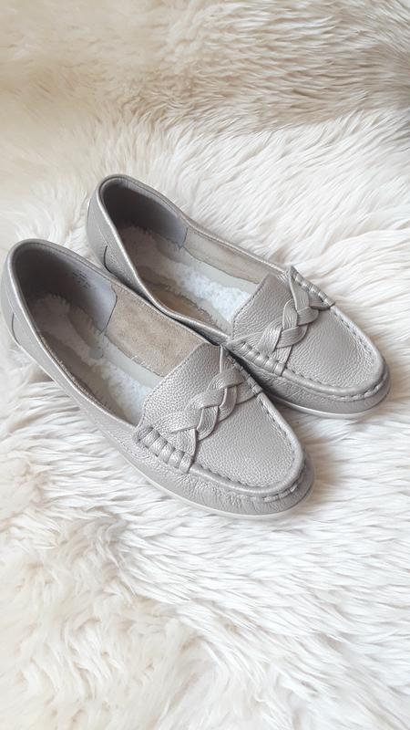 Кожаные туфли мокасины hotter 37 размер