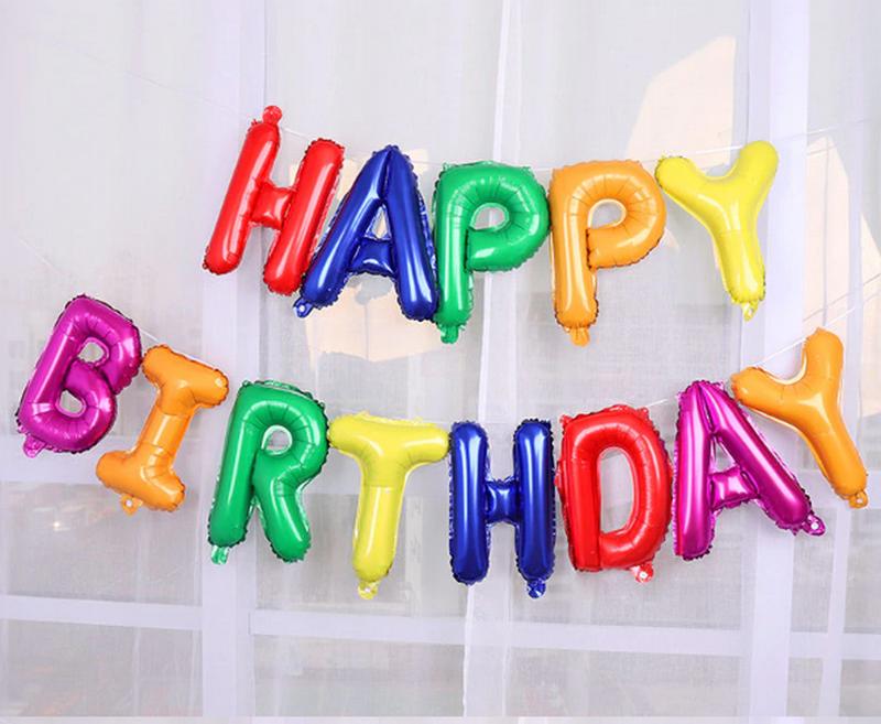 Шары буквы Happy Birthday шарики буквы на день рождения