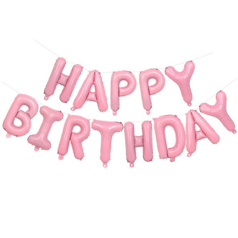 Надувной баннер Happy Birthday фольгированные шары буквы