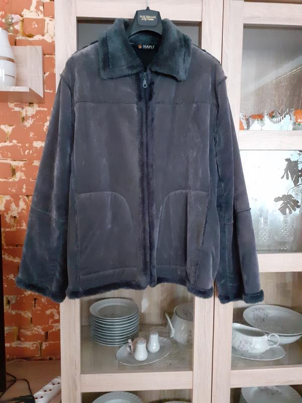 Милая искусственная куртка дублёнка большого размера