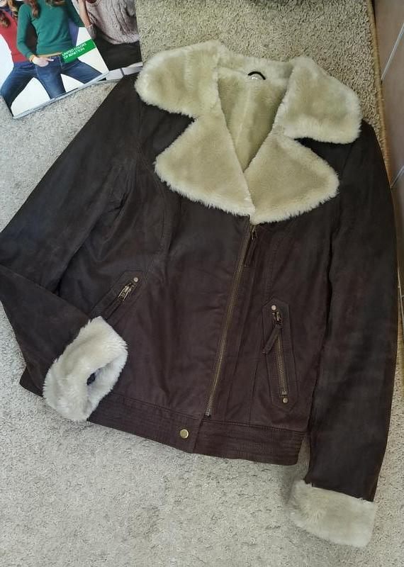 C&a германия крутая куртка дубленка авиатор, косуха /натуральн...