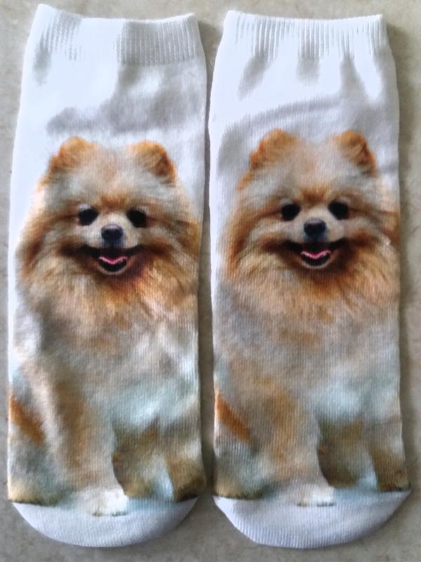 Короткие 3-д носки (30-38) для взрослых и детей