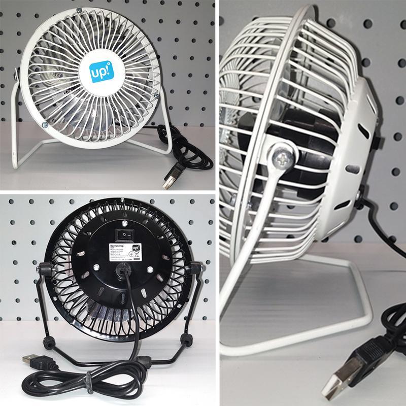 Мини вентилятор настольный маленький от USB - Фото 5