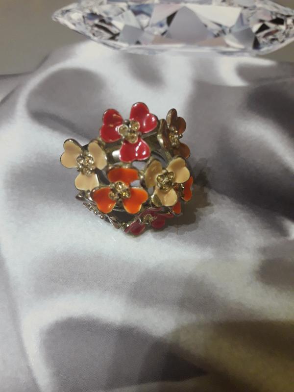 Винтажное кольцо с эмалью