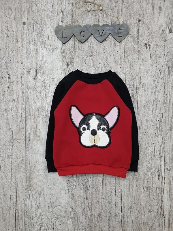 Детский свитшот кофта свитер толстовка для мальчика на флисе 9...