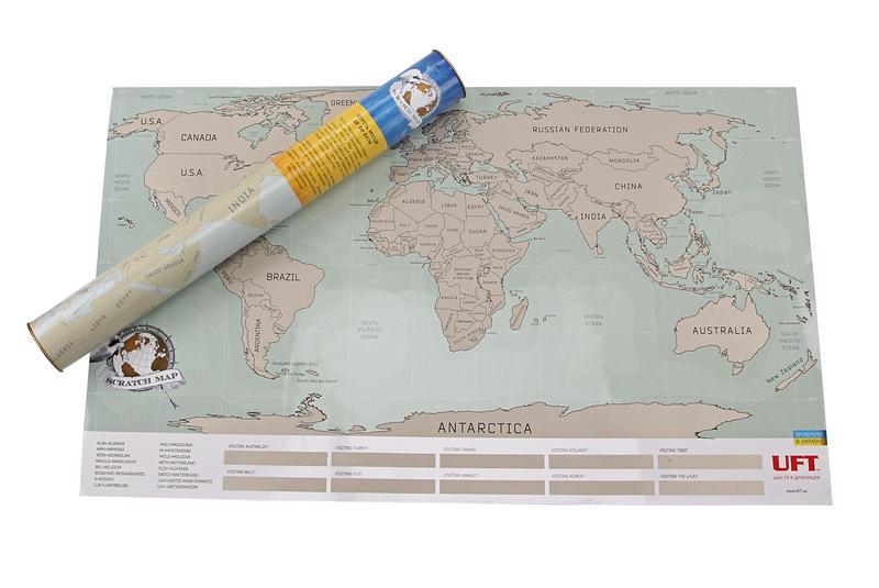Скретч карта Мира UFT - Фото 4