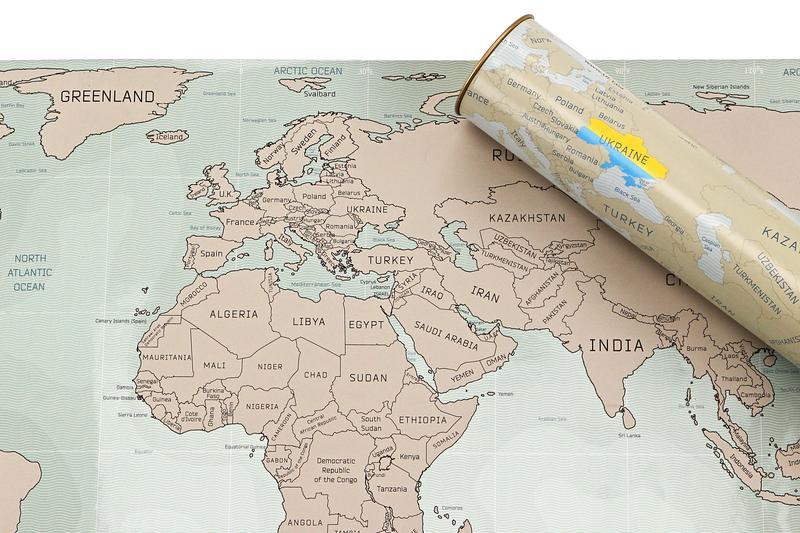 Скретч карта Мира UFT - Фото 5