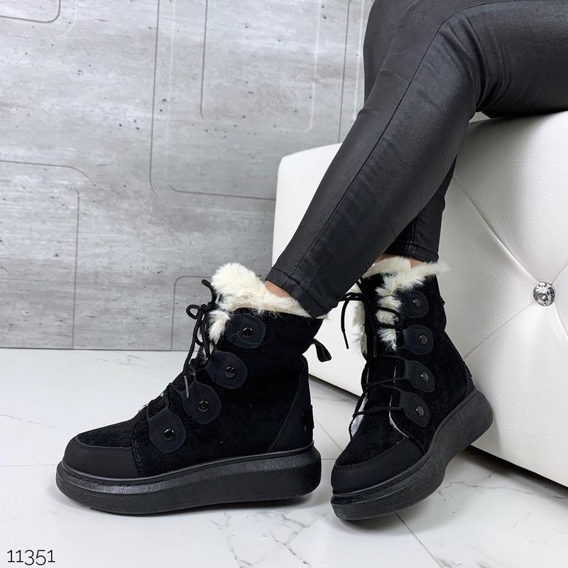 Стильные зимние ботинки с мехом