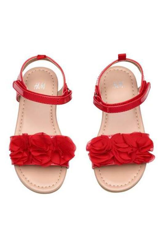 H&m сандалии р.28 босоножки красные
