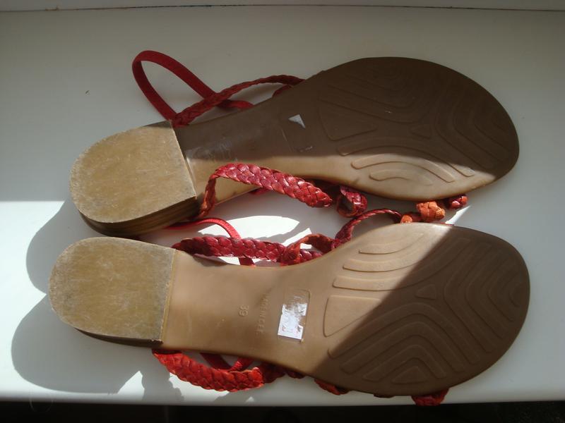 Мегаудобные кожаные босоножки дорогой итальянский бренд di marzio - Фото 2