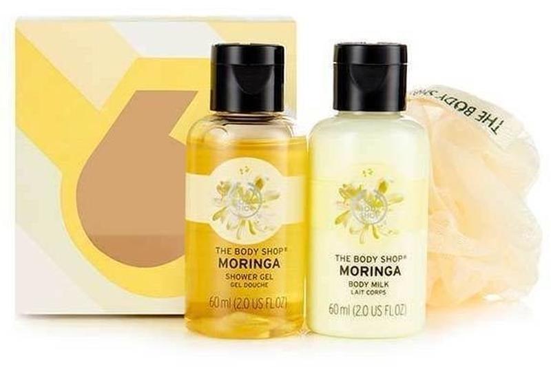 The body shop moringa, набор моринга подарочный гель для душа,...