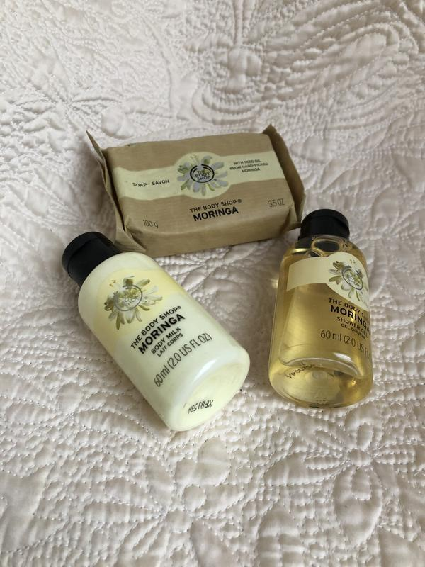 The body shop moringa, набор моринга подарочный гель для душа,... - Фото 2
